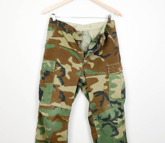 f5723c6ea09 Vintage Camo Pants Small Long Vintage Army Pants Vintage