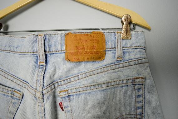 Vintage Distressed 554 Levis Jeans 32, 90s Levis,… - image 8