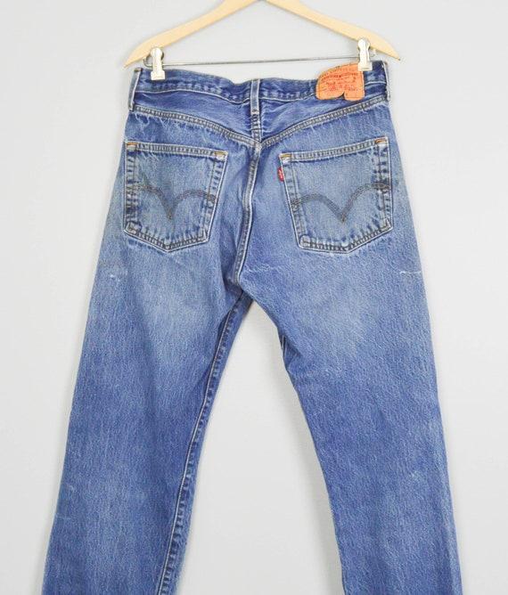 Vintage Distressed 501 Levis Jeans 33, Vintage Cl… - image 5