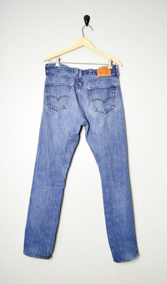 Vintage Distressed 501 Levis Jeans 32/33, 90s Lev… - image 4