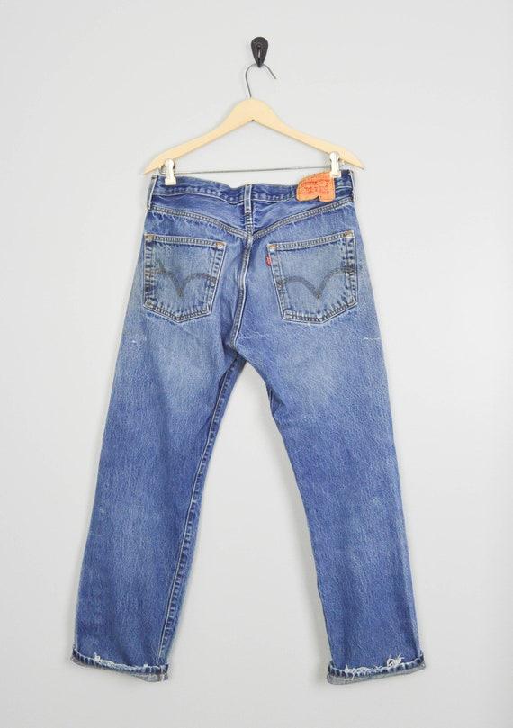 Vintage Distressed 501 Levis Jeans 33, Vintage Cl… - image 4