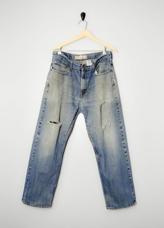 Trashed Vintage Distressed 569 Levis Jeans 34, 90s