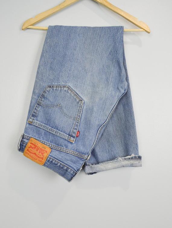 90s Vintage 505 Distressed Levis Jeans 35, Vintage