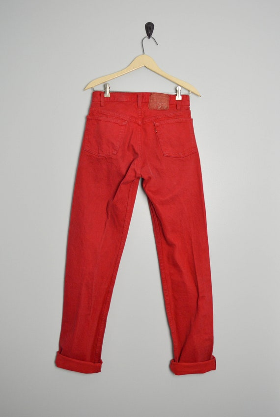90s 501 Levis Jeans 28 Tall Long Levis, Made in th