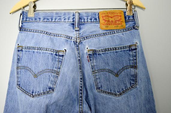 Vintage Distressed 501 Levis Jeans 28/29, 90s Lev… - image 6