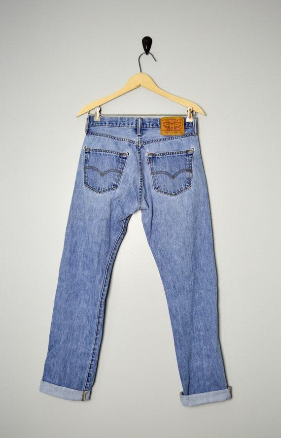 Vintage Distressed 501 Levis Jeans 28/29, 90s Lev… - image 5