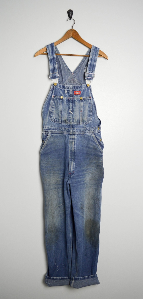 Distressed Vintage Overalls 34 Medium, Vintage Clo