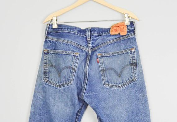 Vintage Distressed 501 Levis Jeans 33, Vintage Cl… - image 6