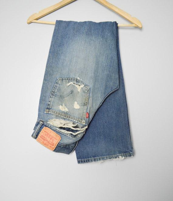 Vintage Trashed 527 Levis Jeans 31, 90s Levis, Vi… - image 5