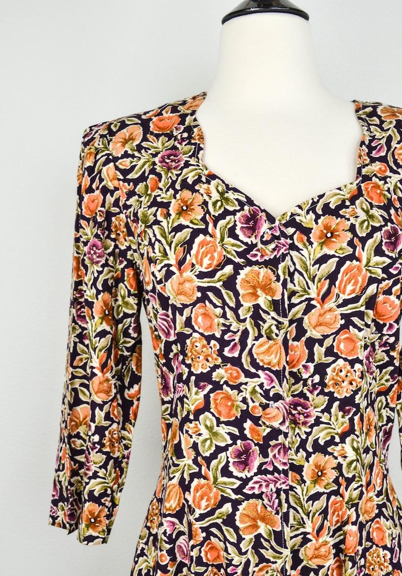 Rayon Dress 90s Grunge Dress Hipster Dress Skater Dress 90s Clothing Vintage Clothing 90s Floral Maxi Dress Jumper 80s Clothing