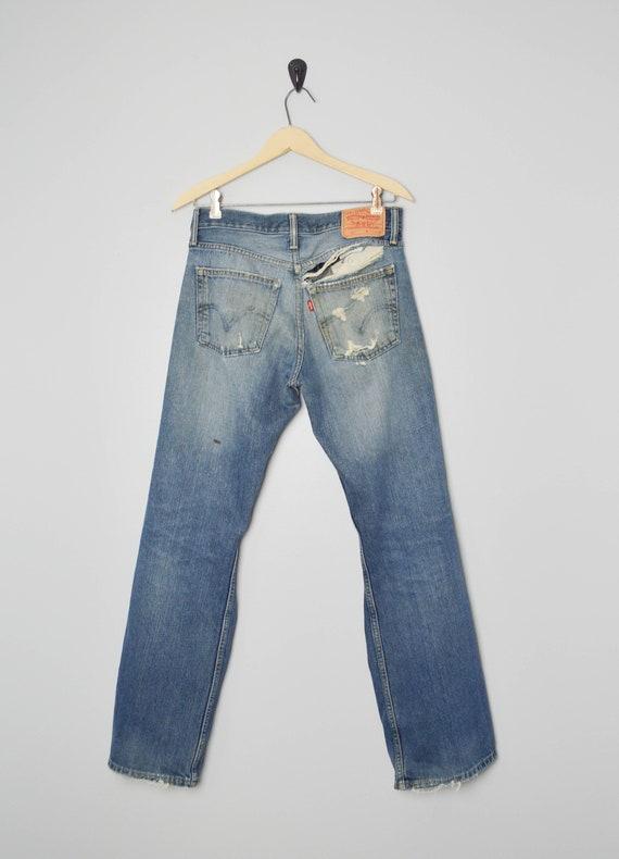Vintage Trashed 527 Levis Jeans 31, 90s Levis, Vi… - image 3