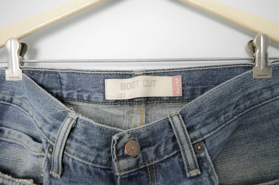 Vintage Trashed 527 Levis Jeans 31, 90s Levis, Vi… - image 7