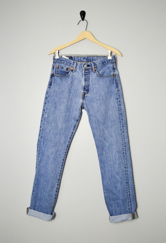 Vintage Distressed 501 Levis Jeans 28/29, 90s Lev… - image 2