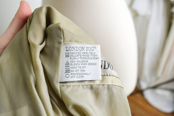 Vintage Khaki Clothing Clothes Trench Vintage Coat Clothing Vintage Fog Coat Vintage Grunge 80s 90s Trench Medium London Lined Jacket X8CqH