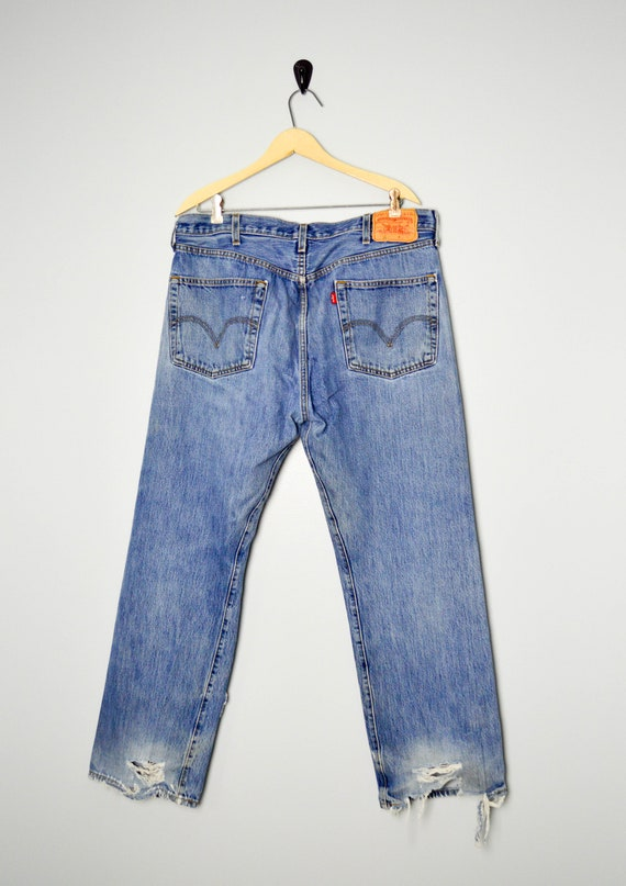 Vintage Distressed 501 Levis Jeans 38, Vintage Cl… - image 5