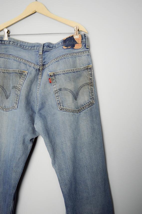 Trashed Vintage Distressed 569 Levis Jeans 34, 90… - image 5