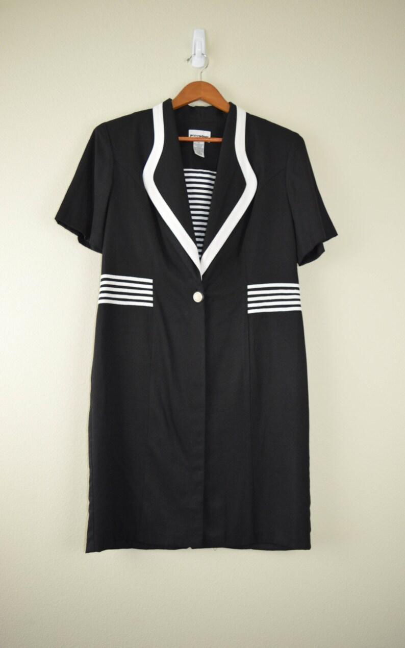Sailor Dress Blue Grunge Dress 80s Clothing Vintage Clothing Shoulder Pads Vintage Clothing Medium 80s Dress Skater Dress