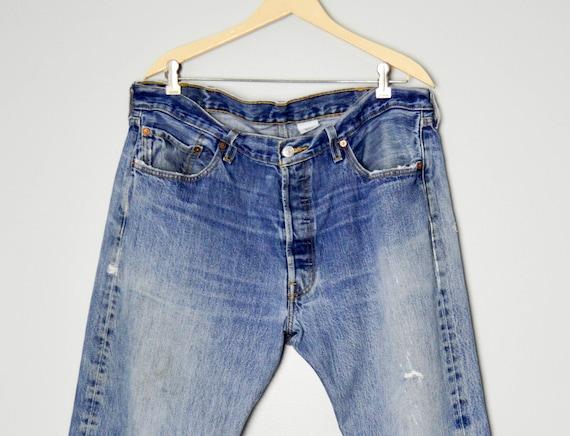 Vintage Distressed 501 Levis Jeans 38, Vintage Cl… - image 4