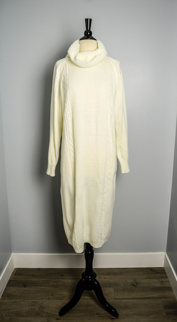 80s Sweater Dress Medium, 80s Clothing, Vintage Cl