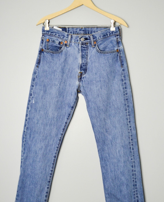 Vintage Distressed 501 Levis Jeans 28/29, 90s Lev… - image 3