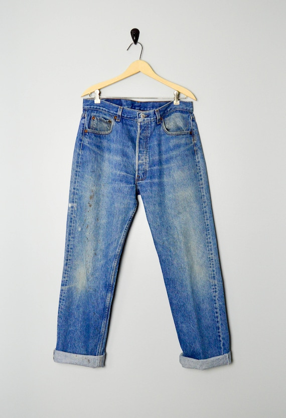RARE 501-0113 Levis Jeans 33/34, Made in the USA,… - image 2