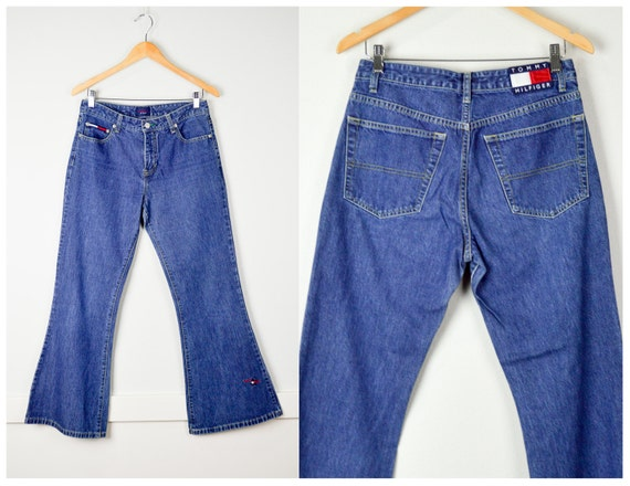 des années 90 Sz Tommy Hilfiger Jean 9, vêtements Vintage, des années 90 vêtements, 90 s Jeans, Jeans Vintage, Grunge vêtements, Bell Bottoms, jambe
