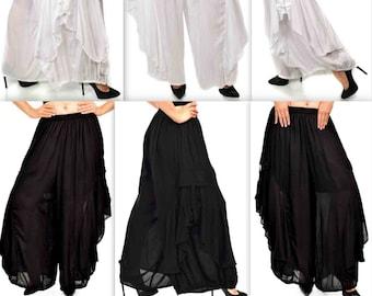 Absolutely adorable artistically cut Pants, Lagenlook Pants, Hip Hop Pants, Fashion Pants, Plus size pants, Women pants