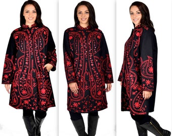 d82c781bd64 Hand embroidered wool coat