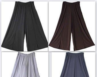Comfy Plus Pants, Black Pants, Plus Size Pants, Lagenlook Pants, Palazzo Pants. Long Pants, Size XL To 5XL