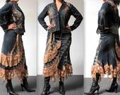 Royal Concepts handmade denim set. Embellished skirt set. Denim skirt set, Plus size denim skirt set, From Medium to 3XL