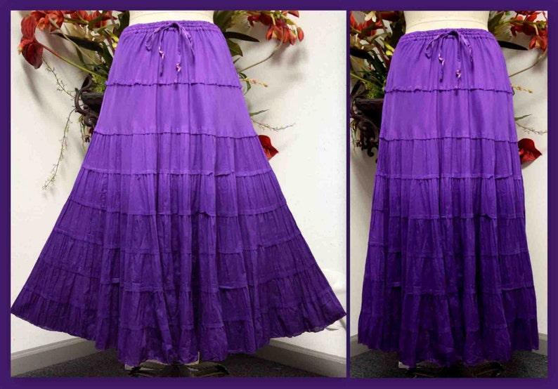 b9c20860d4c Ombre Skirt hande dye skirt Cotton Skirt 8 tiered