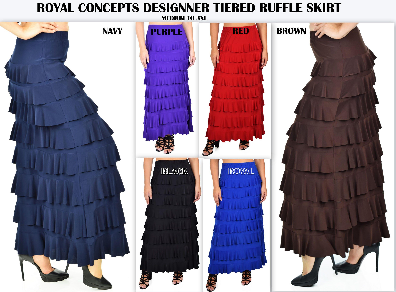 b6868963076 Waterfall Skirt Ruffle SkirtFlamenco SkirtPlus size
