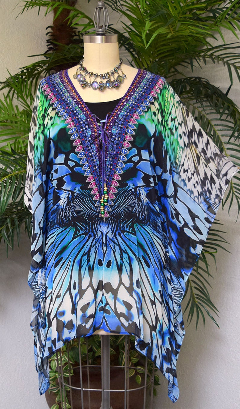 Gorgeous and Sensational Beaded Plus Size Caftan 1XL2XL and  3XL4XL