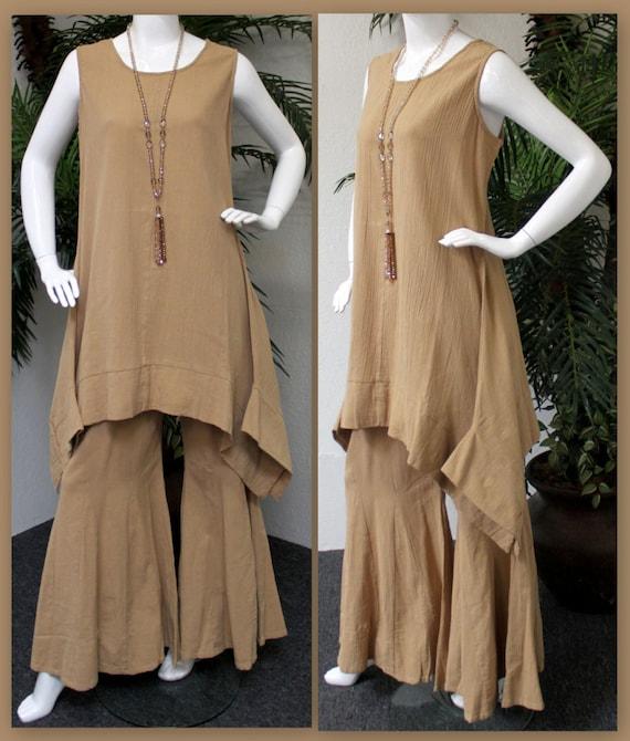 c57685dd53b ComfyPlus Designer Pant set Cotton Gauze Pant set Bell