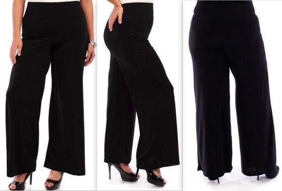 035e2fa792b97 Tall Pants, Long Pants, Wide leg Pants, Black Pants, Plus Size Pants,  Lagenlook Pants, Palazzo Pants. Plus size clothing, Size 1XL To 6XL