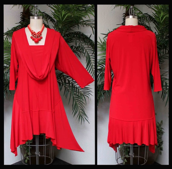 long Regular Tunic Scarf Plus Front Size Lagenlook Limited Cuts Mock Free and ComfyPlus Shipping size Crazy Dress Time with q0wESS