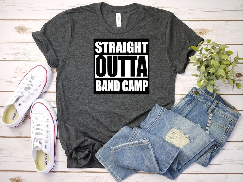 173ec213d Straight Outta Band Camp SVG DXF PNG Digital Cut File for use | Etsy