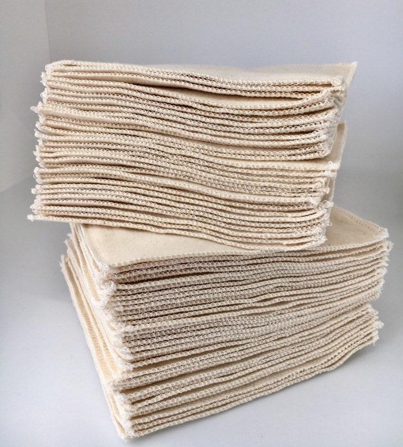 0855fd554fa1e Organic Washable Reusable Toilet Paper 2 Ply Cloth Wipes | Etsy