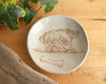 Pug Plates Etsy