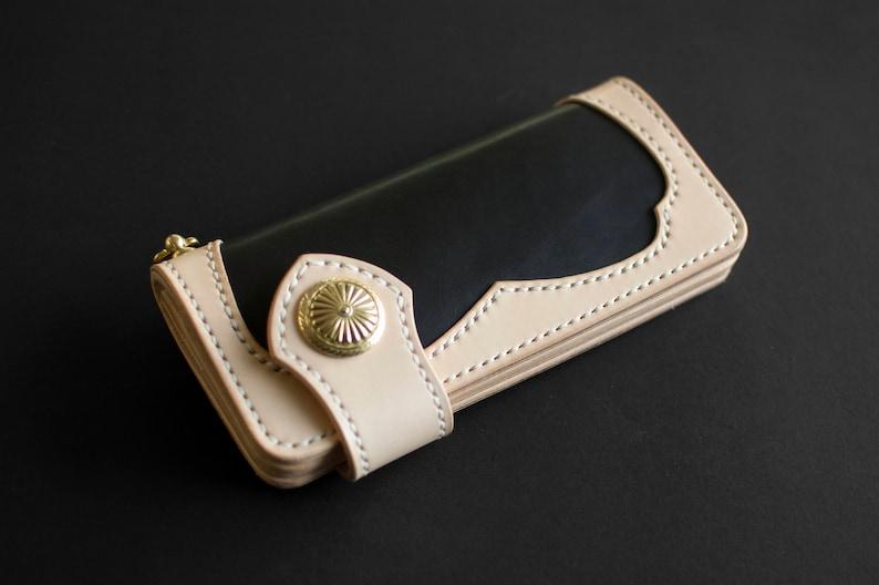 d64e2620bc741 Biker Geldbörse lange Brieftasche Portemonnaie aus Leder