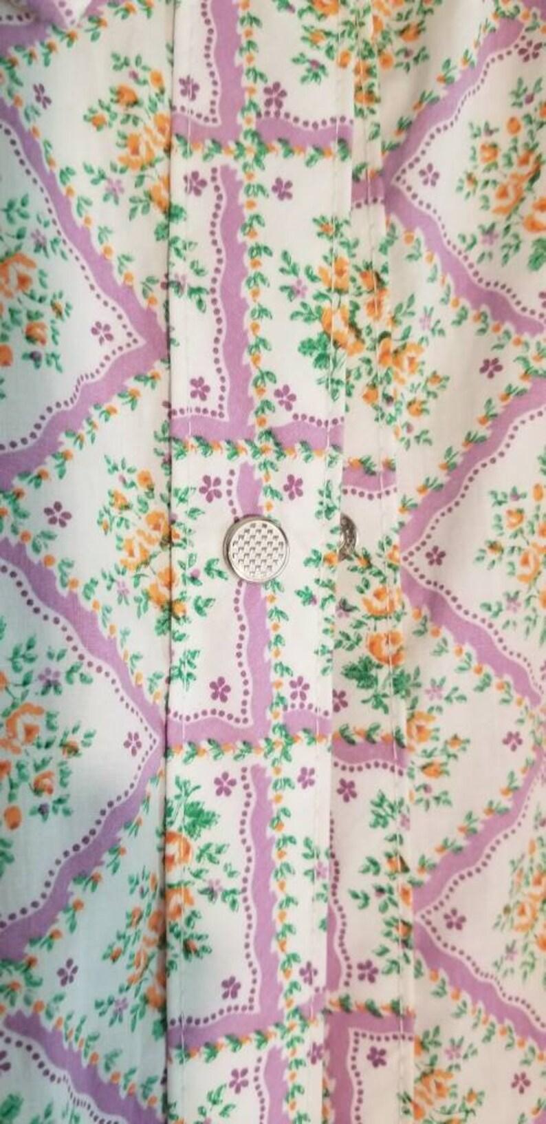 Short Sleeve Granny Housecoat  Bathrobe Snap Front Size 42 or XL Vintage