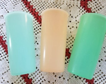 Vintage, Retro, 3 Plastic, Tupperware, Child Size Cups, Pastel, camping