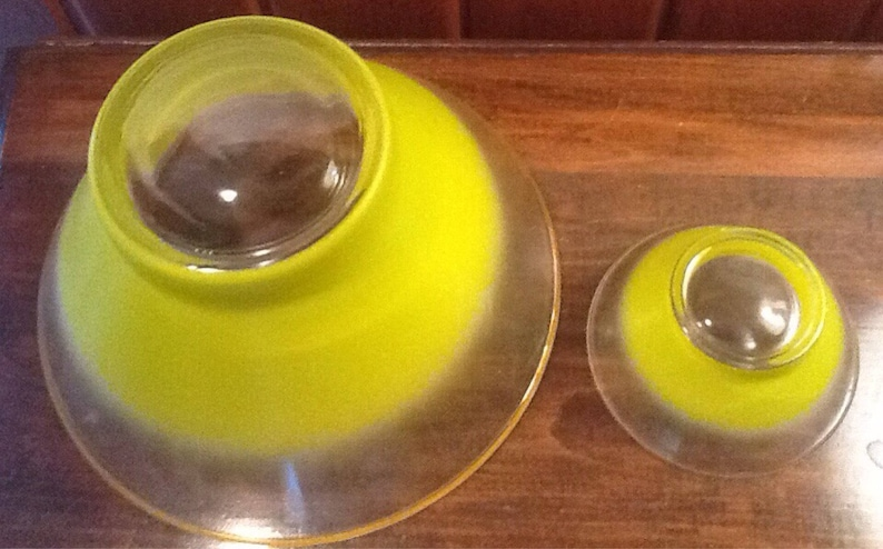 Retro Blendo Chip and Dip Set Buffet Entertaining serving bowl Tailgating Vintage Limey Green