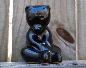 Two Pigeon Forge Black Bear Figurine