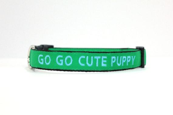 Sur mesure personnalisé collier chien Nylon vert brodé