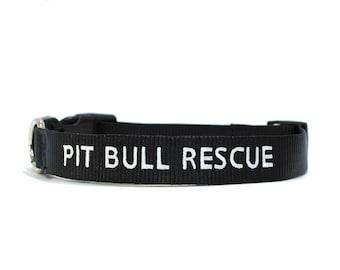 Custom Personalized Black  Soft Flexible Nylon Embroidered Dog Collar