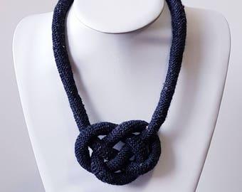 Crochet Rope Celtic Heart Knot