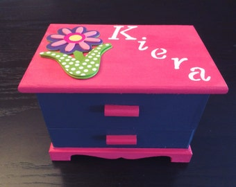 Pink Customized Jewelry Box With Mirror Girls Jewelry Box Customized Jewelry Box Girls Jewelry Box Kids Jewelry Box Personalized Kids Gift