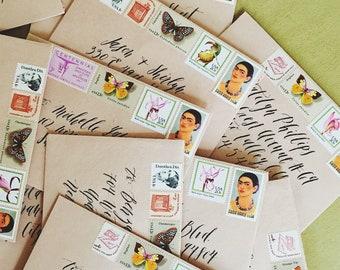 Envelope Addressing in Calligraphy | Custom Envelope Addressing for Weddings & Special Events