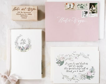 Illustrated Wedding Invitation Booklet | Custom Hand Drawn Stationery Suite for Weddings & Special Events